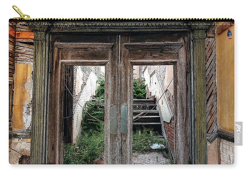 Jerome Carry-all Pouch featuring the photograph 0707 Jerome Ghost Town by Steve Sturgill