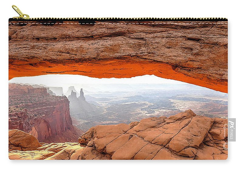 Mesa Carry-all Pouch featuring the photograph 0708 Mesa Arch by Steve Sturgill