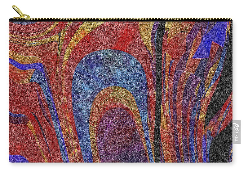 Abstract Carry-all Pouch featuring the digital art 0880 Abstract Thought by Chowdary V Arikatla