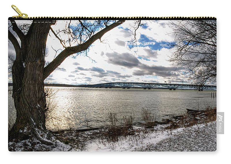 Carry-all Pouch featuring the photograph 008 Grand Island Bridge Series by Michael Frank Jr