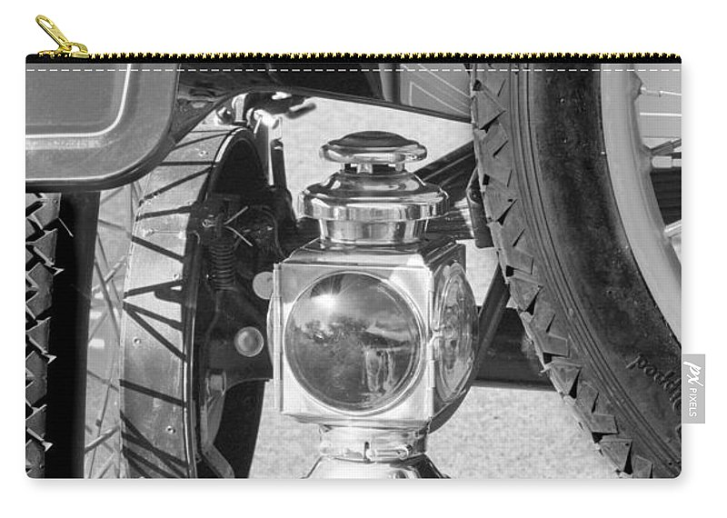 1911 Ford Model T Torpedo 4 Cylinder 25 Hp Taillight Carry-all Pouch featuring the photograph 1911 Ford Model T Torpedo 4 Cylinder 25 Hp Taillight by Jill Reger