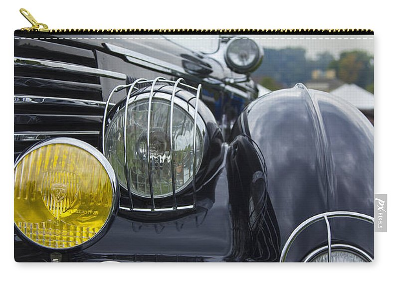 Antique Carry-all Pouch featuring the photograph 1935 Delage by Jack R Perry
