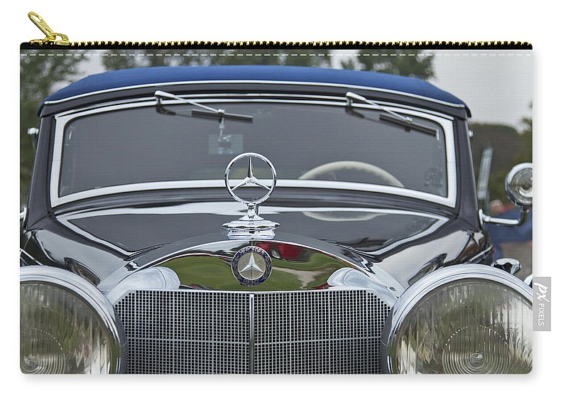 Antique Carry-all Pouch featuring the photograph 1937 Mercedes Benz by Jack R Perry