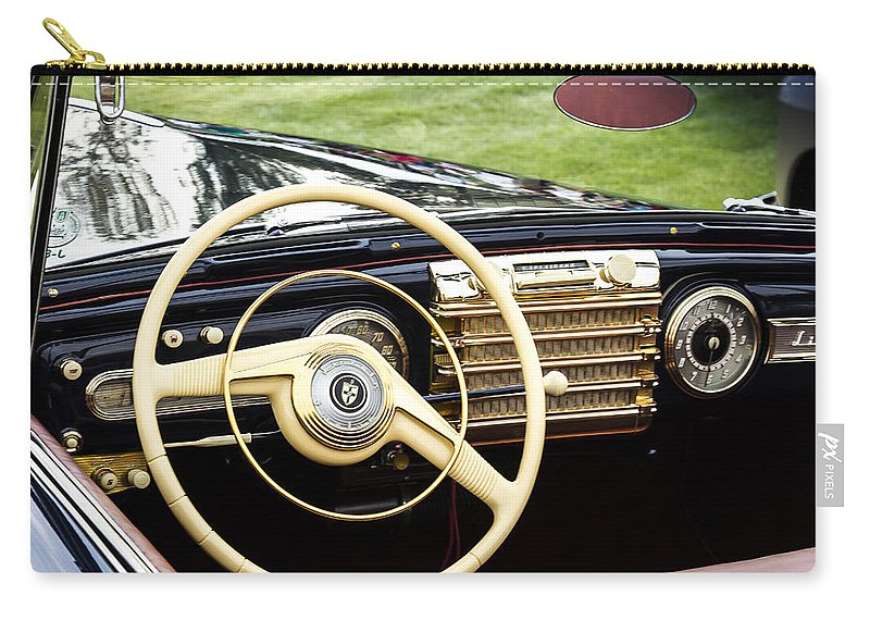 Antique Carry-all Pouch featuring the photograph 1942 Lincoln by Jack R Perry