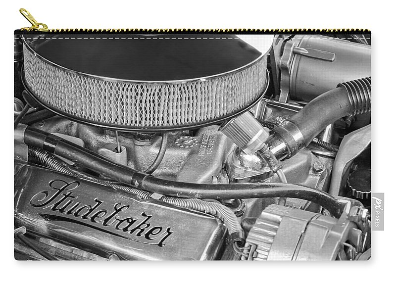 1953 Studebaker Champion Starliner Engine Carry-all Pouch featuring the photograph 1953 Studebaker Champion Starliner Engine by Jill Reger