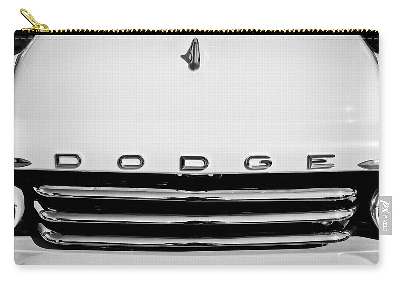 1958 Dodge Sweptside Truck Grille Carry-all Pouch featuring the photograph 1958 Dodge Sweptside Truck Grille by Jill Reger