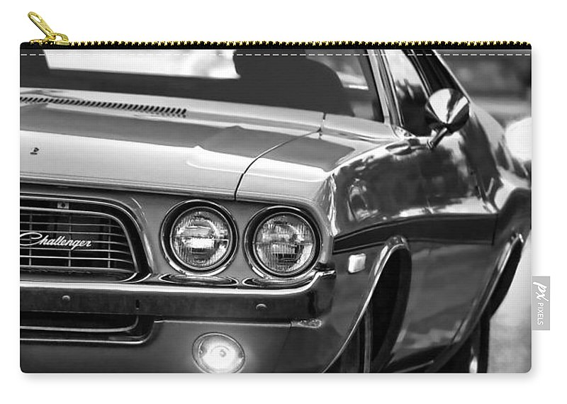 Carry-all Pouch featuring the photograph 1972 Dodge Challenger by Gordon Dean II