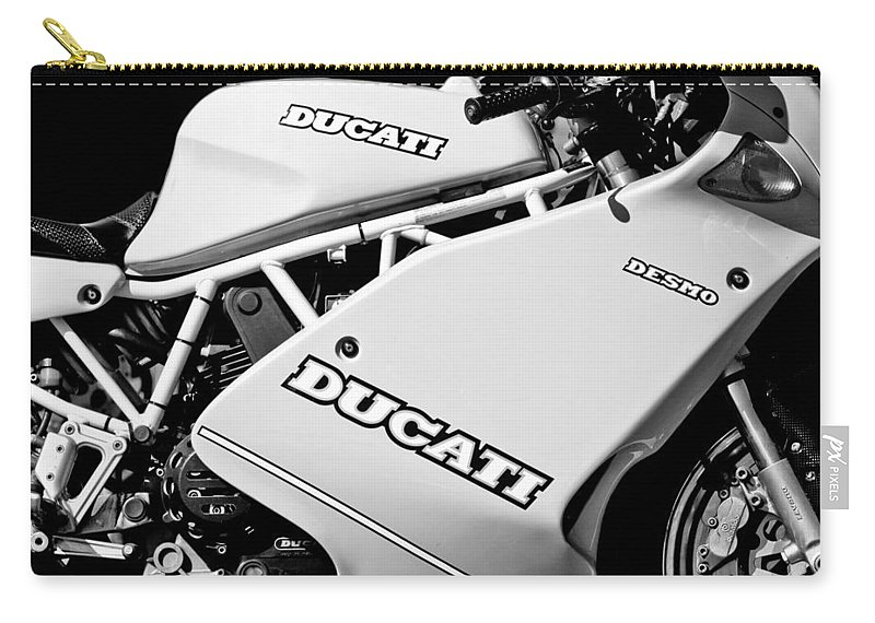 1993 Ducati 900 Superlight Motorcycle Carry-all Pouch featuring the photograph 1993 Ducati 900 Superlight Motorcycle by Jill Reger