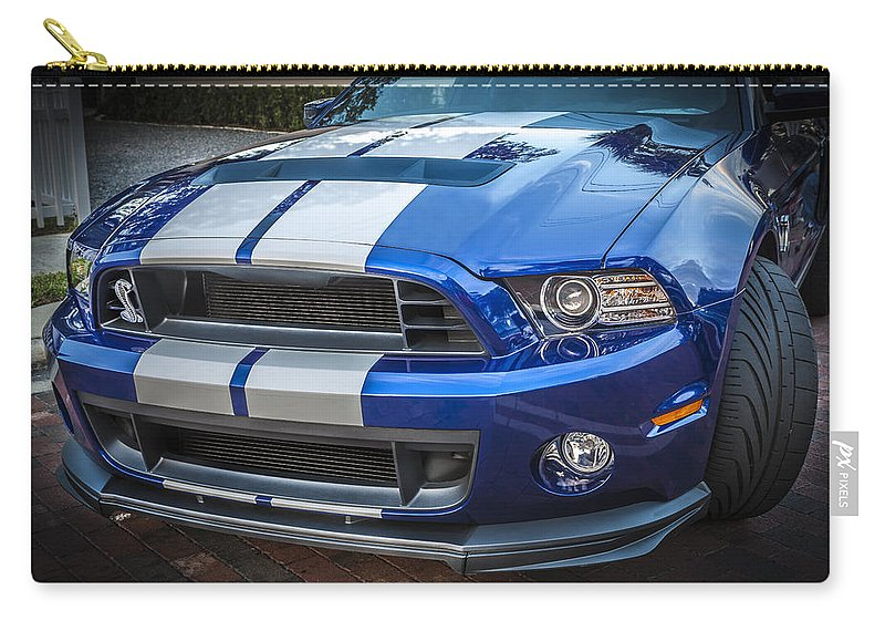 2013 Ford Mustang Carry-all Pouch featuring the photograph 2013 Ford Mustang Shelby Gt 500 by Rich Franco
