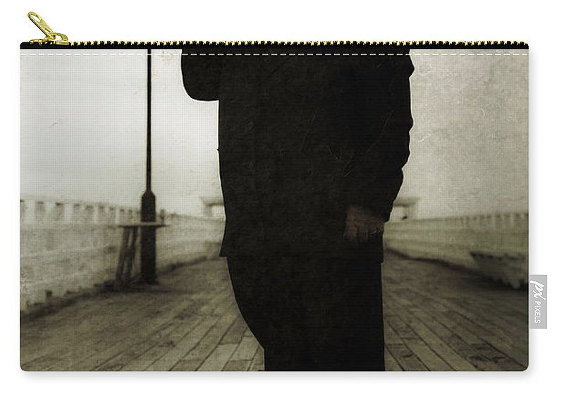 Art Carry-all Pouch featuring the photograph 50s Detective Smoking Pipe by Jorgo Photography - Wall Art Gallery