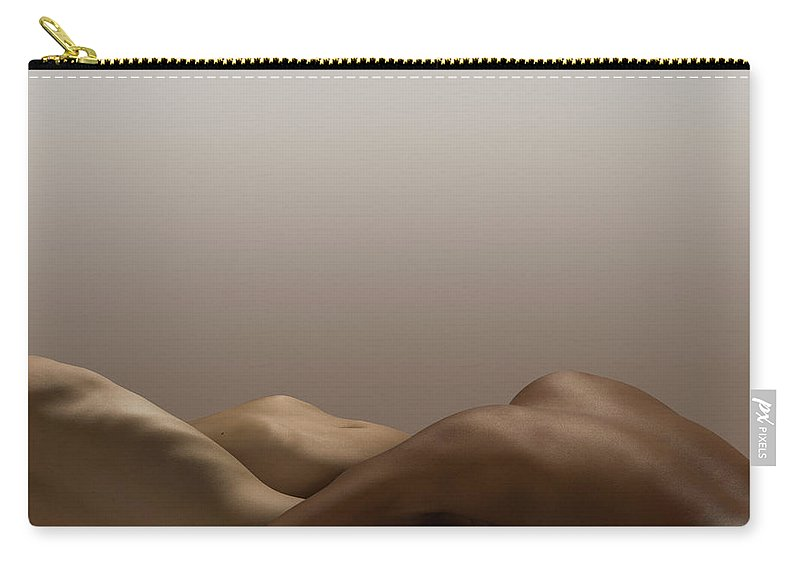 People Carry-all Pouch featuring the photograph Abstract Nude Bodies, Different Skin by Jonathan Knowles