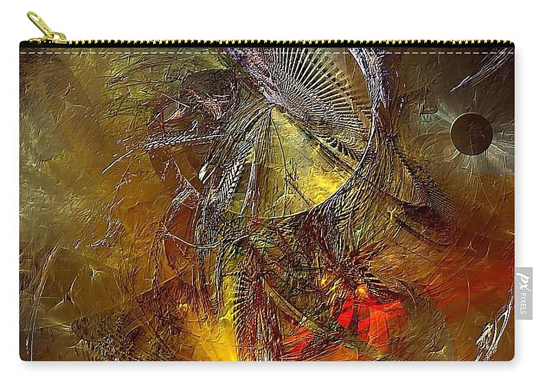 Graphics Carry-all Pouch featuring the digital art Abstraction 0601 - Marucii by Marek Lutek