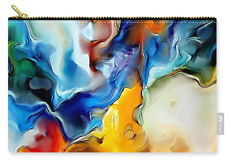 Abstract Carry-all Pouch featuring the painting Abstraction 599-11-13 Marucii by Marek Lutek