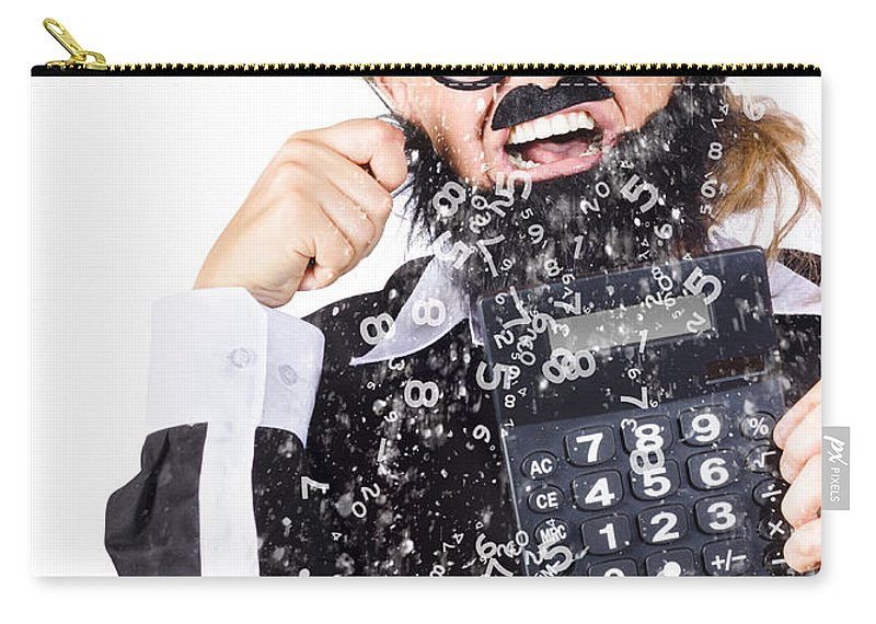 Accountancy Carry-all Pouch featuring the photograph Accountant Crying Number Tears by Jorgo Photography - Wall Art Gallery
