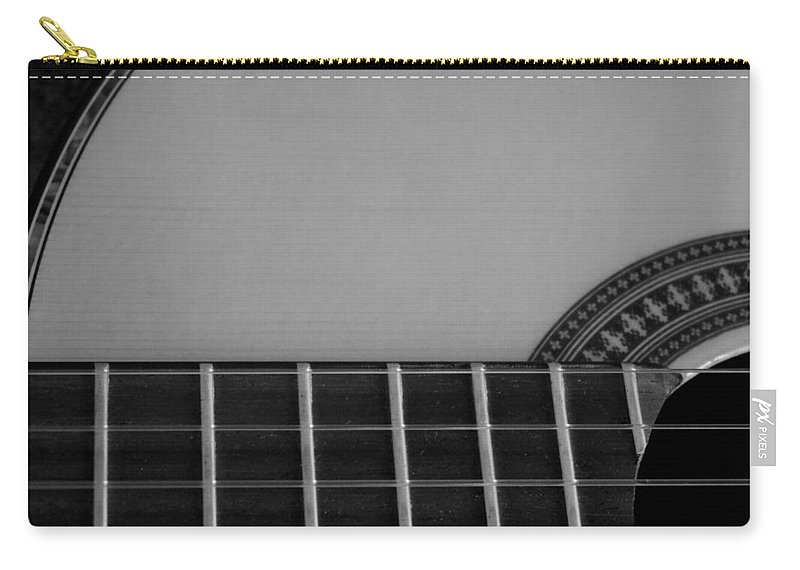 Digital Photograph Carry-all Pouch featuring the photograph Acoustic Guitar Frontal by Laurie Pike