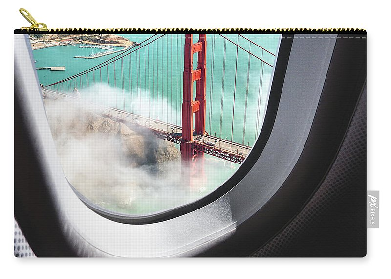 Scenics Carry-all Pouch featuring the photograph Aerial View Of San Francisco Golden by Franckreporter