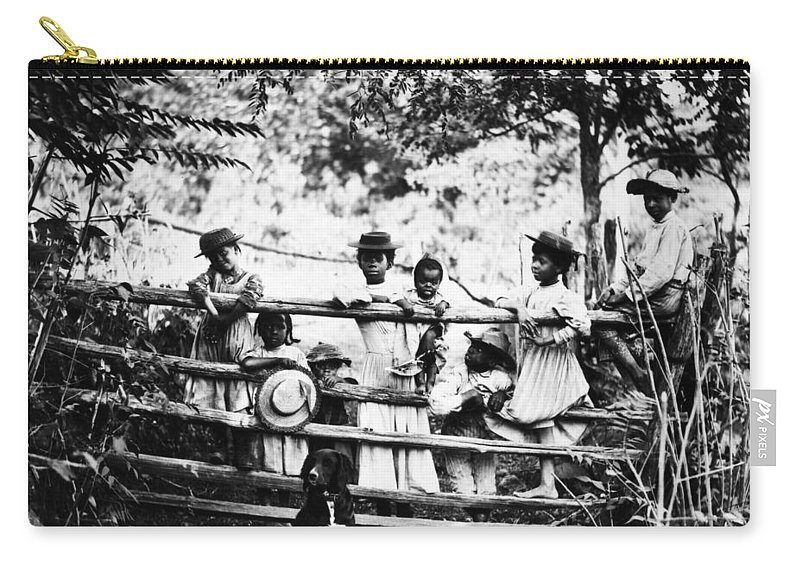 1890 Carry-all Pouch featuring the photograph African American Children by Granger