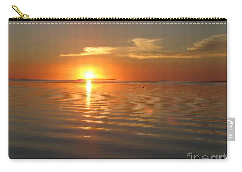 Afterglow Carry-all Pouch featuring the photograph Afterglow by Christiane Schulze Art And Photography
