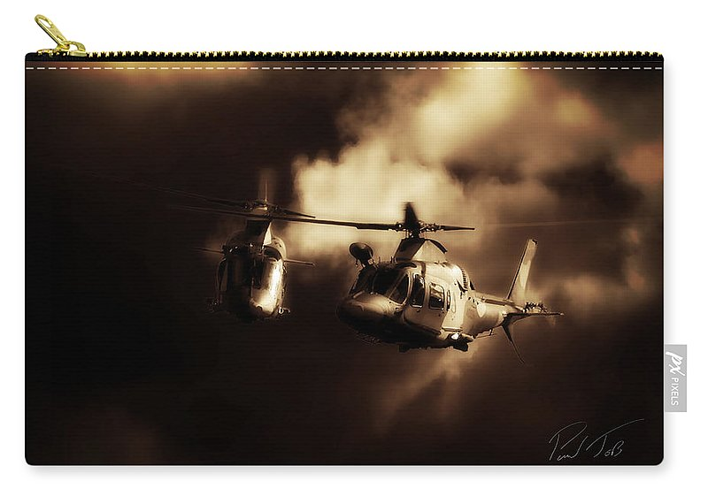 Agusta A109 Carry-all Pouch featuring the photograph Agusta Cloud by Paul Job