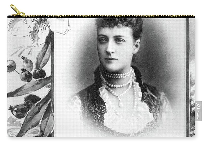 19th Century Carry-all Pouch featuring the photograph Alexandra Of Denmark (1844-1925) by Granger