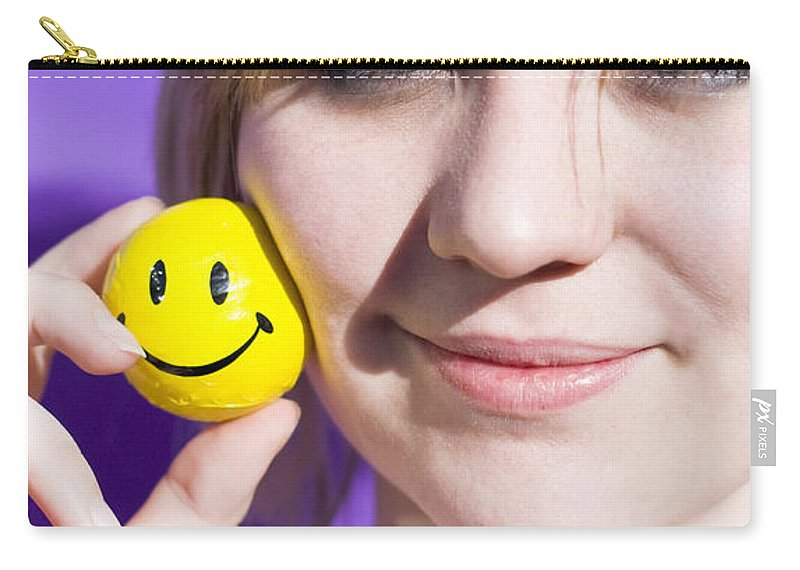 Adult Carry-all Pouch featuring the photograph All Smiling Woman by Jorgo Photography - Wall Art Gallery