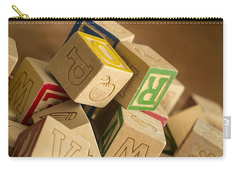 Toy Carry-all Pouch featuring the photograph Alphabet Blocks by Edward Fielding