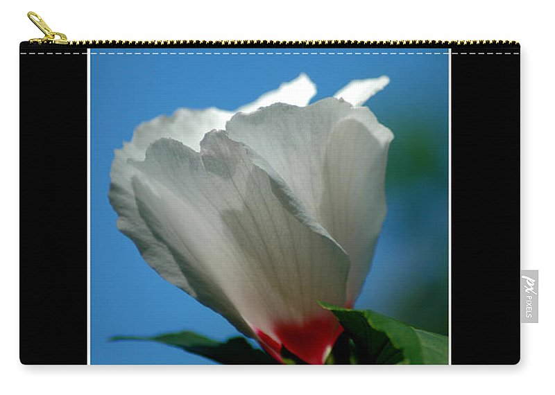 Plant Carry-all Pouch featuring the photograph Althea Flower by David Weeks