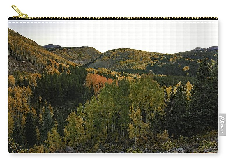 Landscape Carry-all Pouch featuring the photograph An Avalanche Of Color by Bill Sherrell