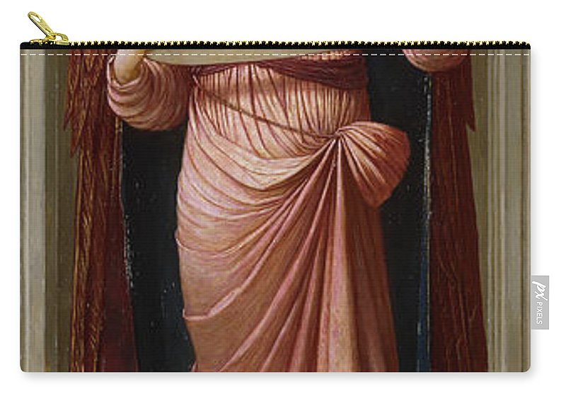 Alcove Carry-all Pouch featuring the painting Angels by John Melhuish Strudwick