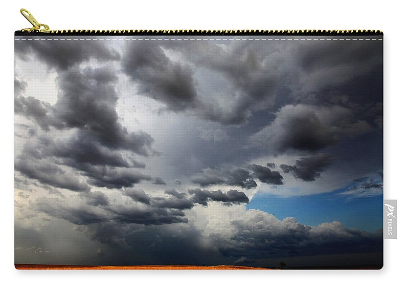 Landscape Carry-all Pouch featuring the photograph Angry Sky by Toni Hopper