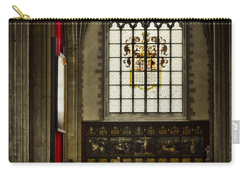 Joan Carroll Carry-all Pouch featuring the photograph Antwerp Cathedral by Joan Carroll
