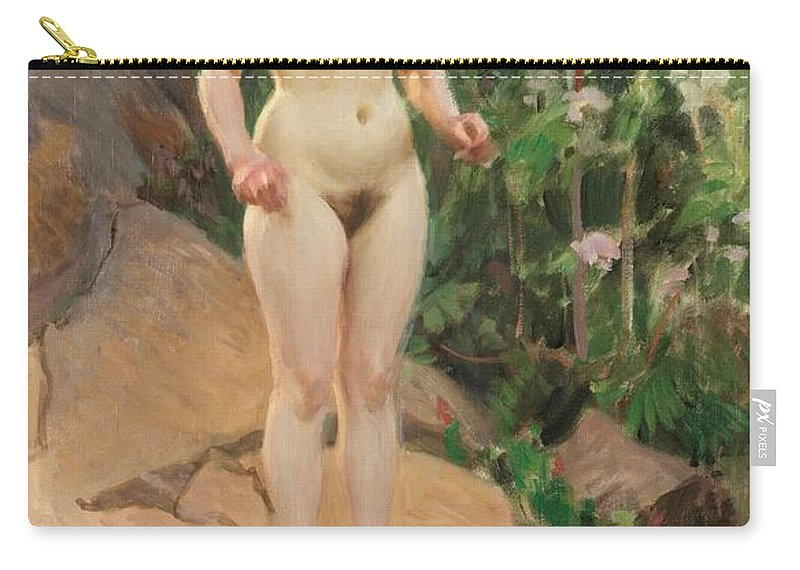 Archipelago Flower Carry-all Pouch featuring the digital art Archipelago Flower by Anders Zorn