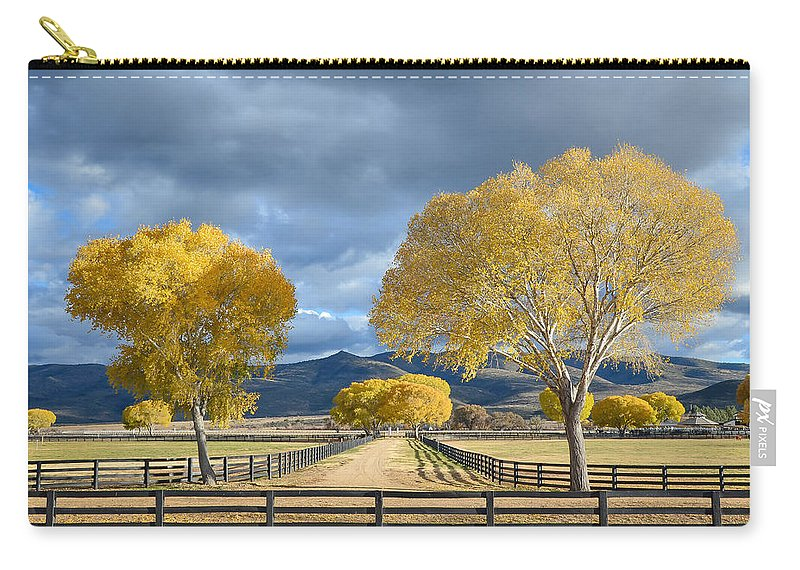 Arizona Carry-all Pouch featuring the photograph Arizona Horse Ranch by David Downs