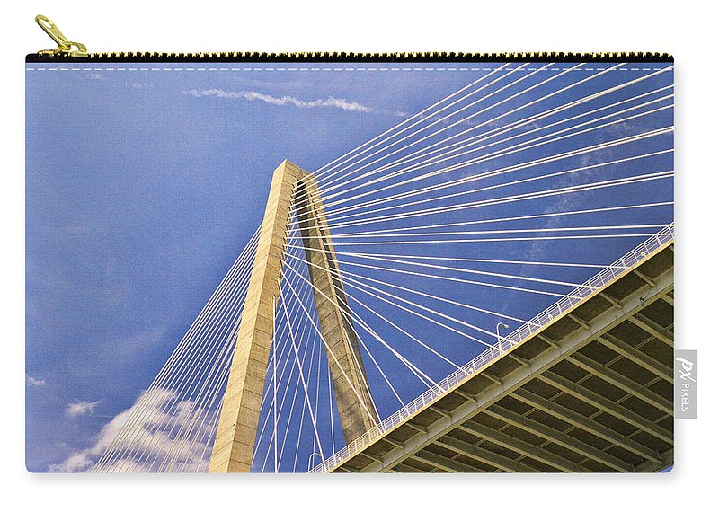 Arthur Ravenel Jr Bridge Carry-all Pouch featuring the photograph Arthur Ravenel Jr. Bridge 2 by Allen Beatty
