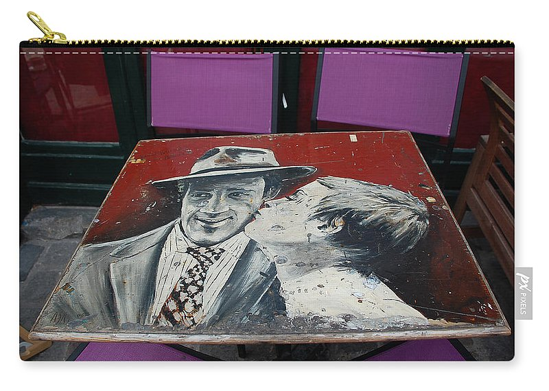 Street Carry-all Pouch featuring the photograph Artist Place by Dany Lison