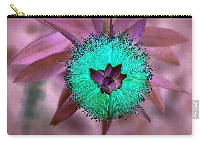 Flower Carry-all Pouch featuring the photograph Artistic Bottle Brush Flower by AJ Schibig