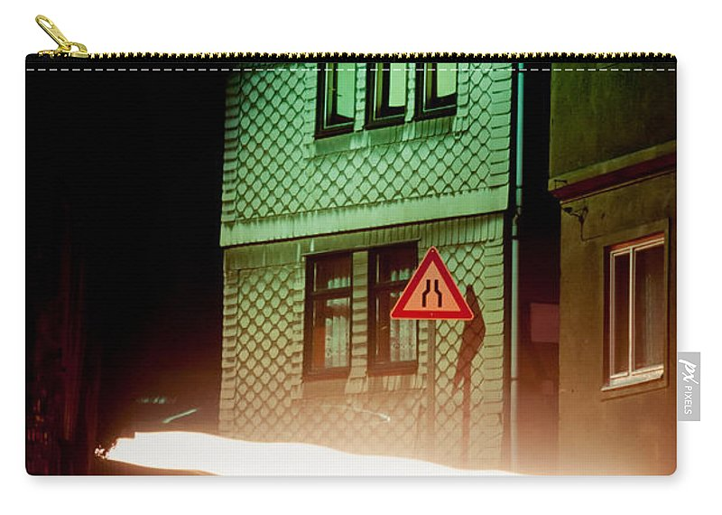 Asleep Carry-all Pouch featuring the photograph At Night In Thuringia Village Germay by Stephan Pietzko