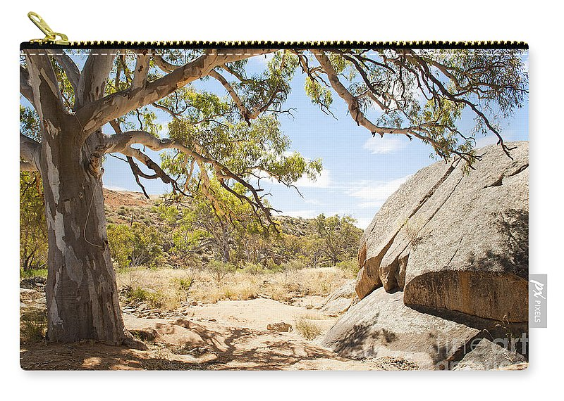 Outdoors Carry-all Pouch featuring the photograph Australian Outback Oasis by Tim Hester