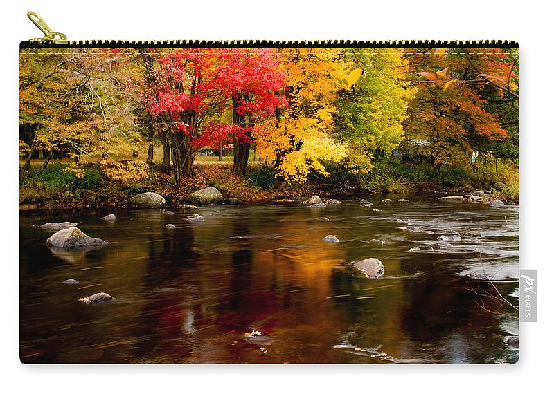 Autumn Foliage New England Carry-all Pouch featuring the photograph Autumn Colors Reflected by Jeff Folger