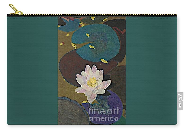 Landscape Carry-all Pouch featuring the painting Autumn Lily by Allan P Friedlander