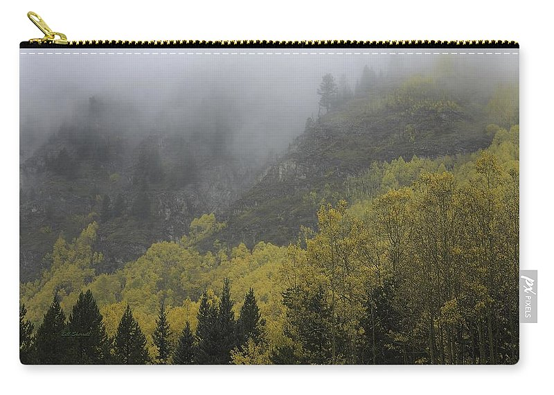 Landscape Carry-all Pouch featuring the photograph Autumn Mist by Bill Sherrell