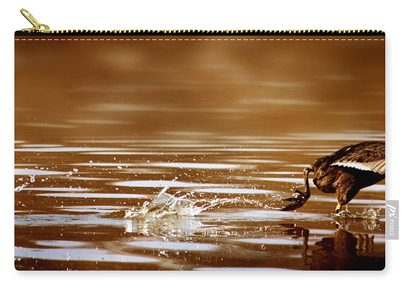 Movement Carry-all Pouch featuring the photograph Away Quickly by Heike Hultsch