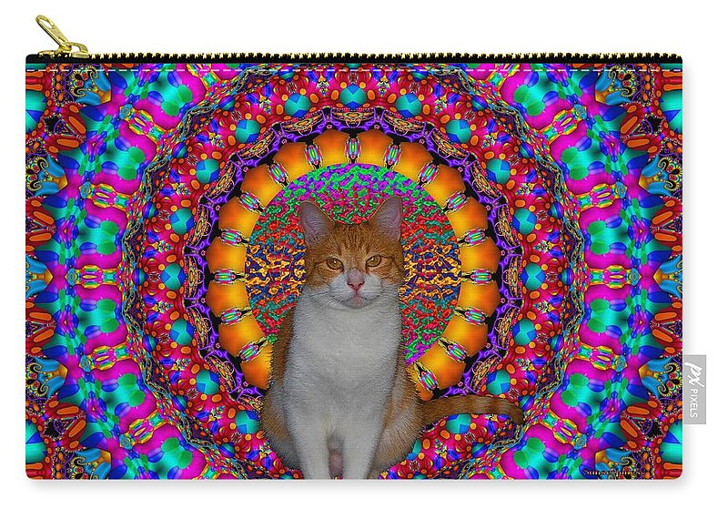 Cat Carry-all Pouch featuring the digital art Baby by Robert Orinski