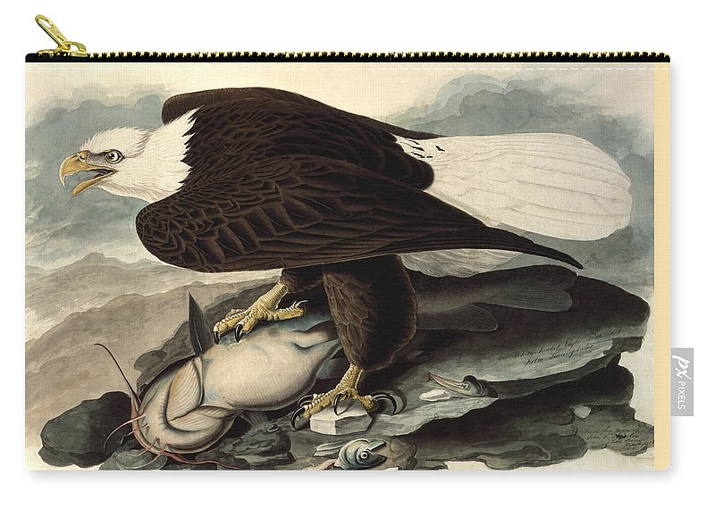 Audubon Carry-all Pouch featuring the painting Bald Eagle by Philip Ralley
