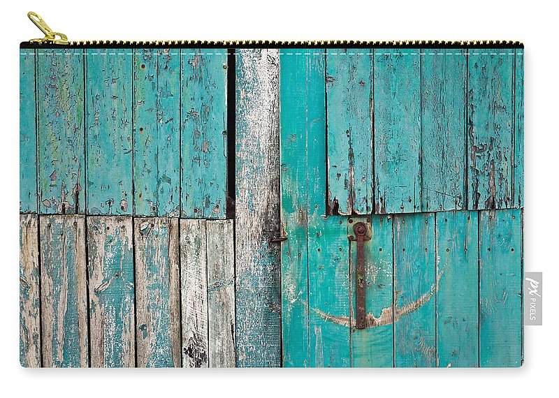 Abandoned Carry-all Pouch featuring the photograph Barn Door by Tom Gowanlock