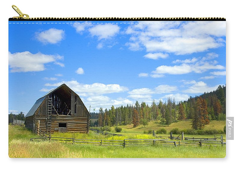 Barn Carry-all Pouch featuring the photograph Barn by Michele Wright
