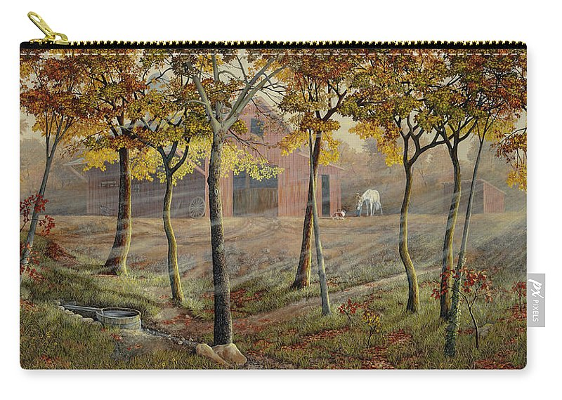 Barrel Carry-all Pouch featuring the painting Barrel Spring by Duane R Probus