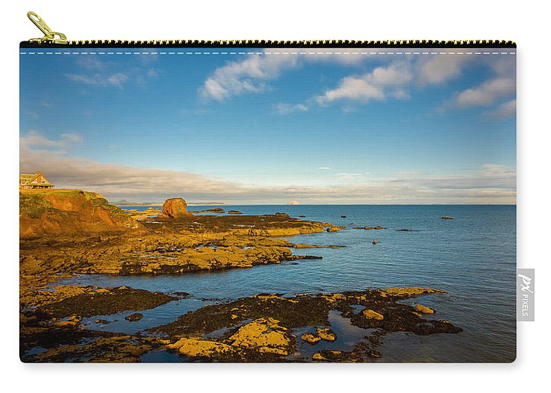 Bass Carry-all Pouch featuring the photograph Bass Rock From Dunbar by Mark Llewellyn