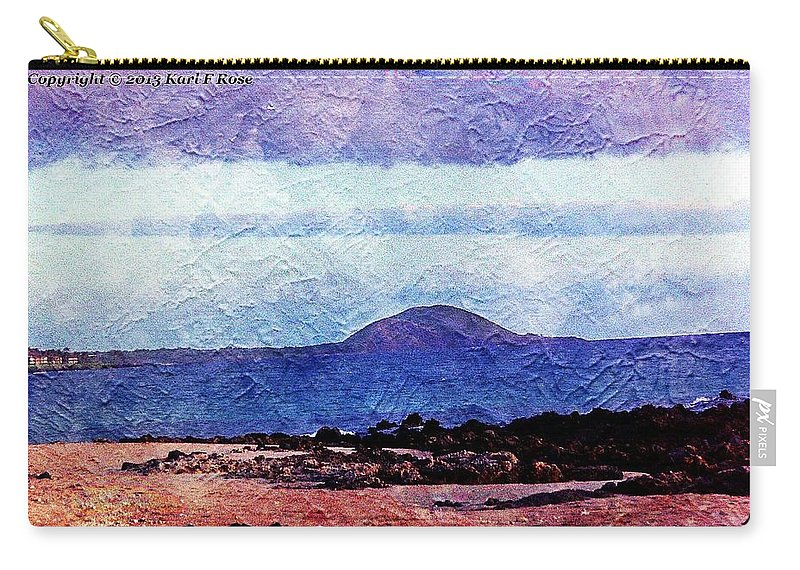 Beach Carry-all Pouch featuring the photograph Beach As A Painting by Karl Rose