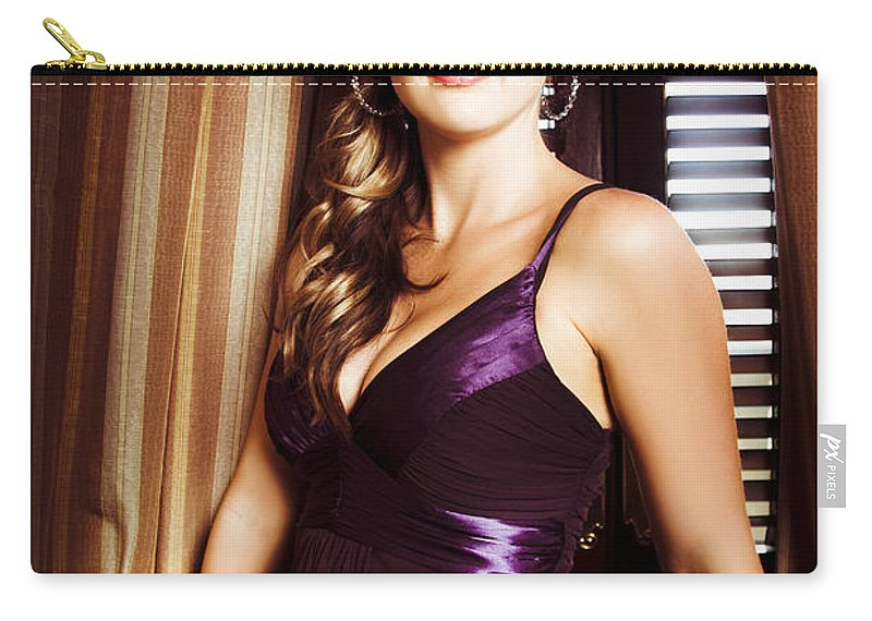 Actress Carry-all Pouch featuring the photograph Beautiful Glamour Model by Jorgo Photography - Wall Art Gallery